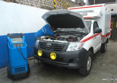 Instalación Aire Acondicionado | Ambulancia Toyota Hilux
