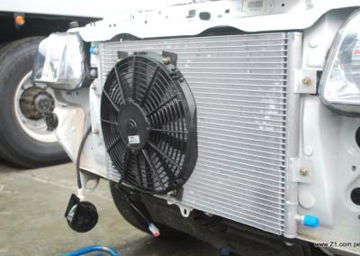 Isntalación AC Fiat Fiorino Ventilador Spal