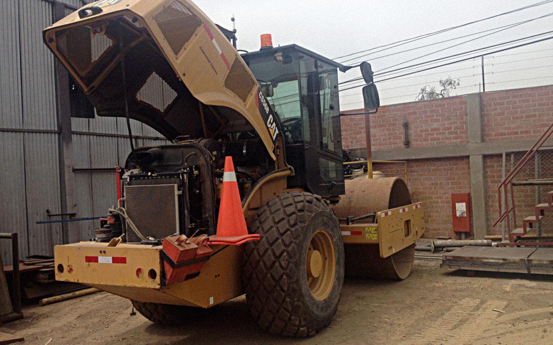 Mantenimiento Aire Acondicionado | Maquinaria Minera | Rodillo Caterpillar CS56B